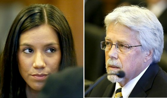 Testimony began Thursday, Feb. 21, 2013 in the trial of Mark Strong Sr., right, who is accused of running a prostitution ring with Zumba instructor Alexis Wright. A Toppings Pizza employee and Wright's landlord testified against Strong on Thursday.