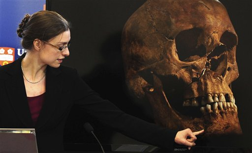 """Jo Appleby, a lecturer in human bioarchaeology at the University of Leicester School of Archaeology and Ancient History, says tests have established """"beyond reasonable doubt"""" the long lost remains of England's King Richard III, missing for 500 years."""