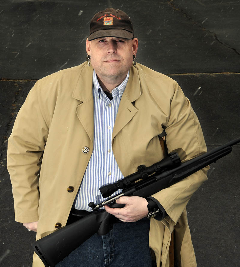 """Jonathan Yellowbear has approached Litchfield selectmen to ask about putting a """"Second Amendment Preservation Ordinance"""" before voters at the annual town meeting in June."""