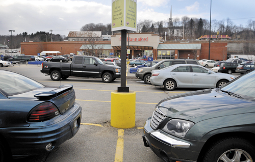 The location where Winthrop Police Chief Joe Young confronted Joel Coons, of Dresden, with a pistol in the parking lot of the Gardiner Hannaford on Aug. 27.