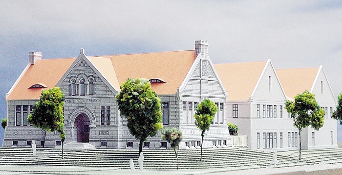 Artist's rendering of the Lithgow Library expansion.