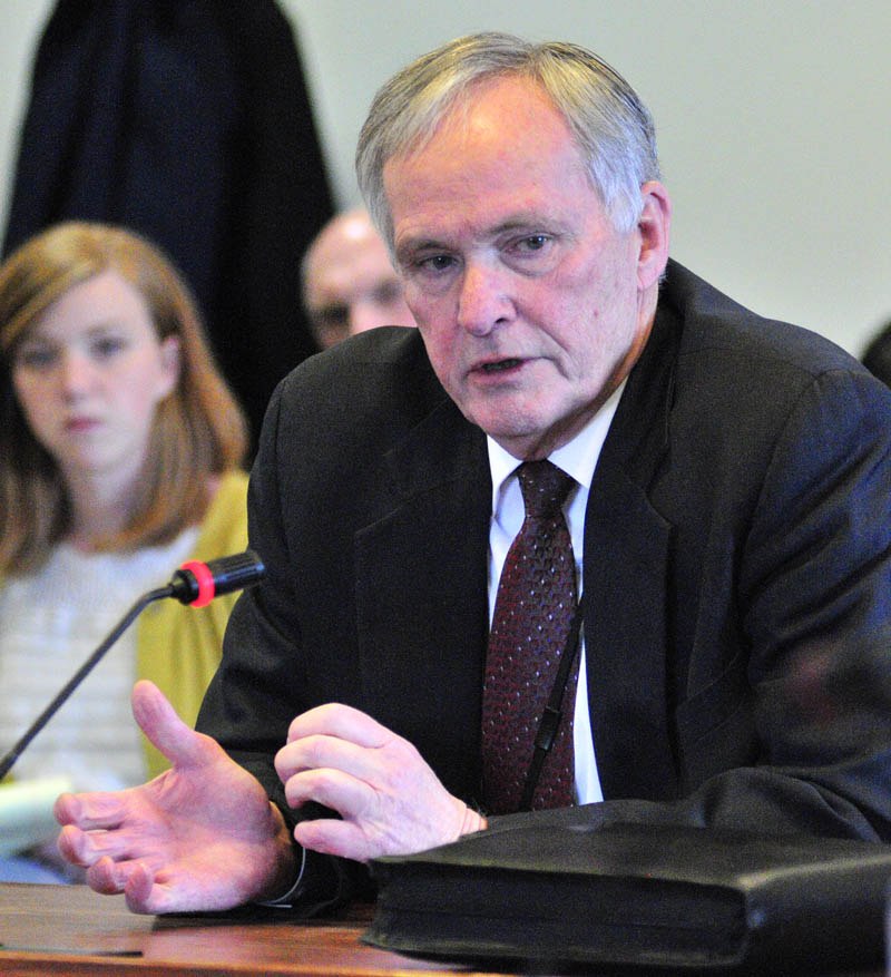 Corrections Commissioner Joseph Ponte talks about plans to close the Central Maine Pre-Release Center in Hallowell during a meeting of the Criminal Justice and Public Safety committee on Monday.