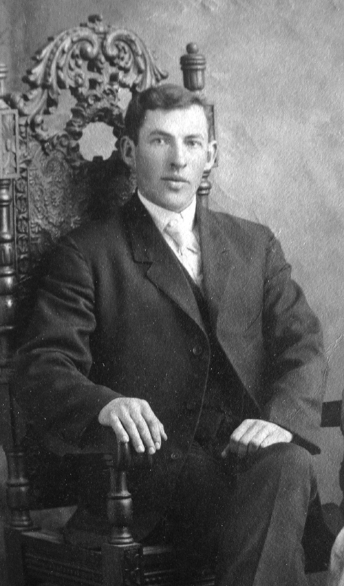 Roderick Coffin taken at the time of his wedding to Lodie Page in 1908.