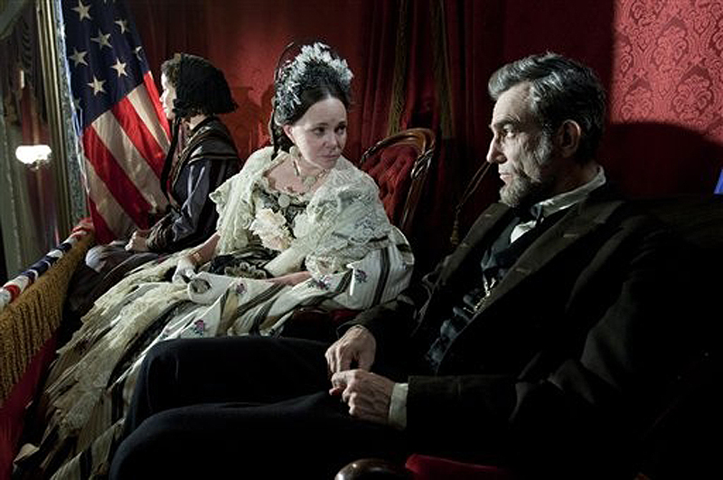 """Daniel Day-Lewis and Sally Field in a scene from """"Lincoln."""" Day-Lewis won the best actor award."""