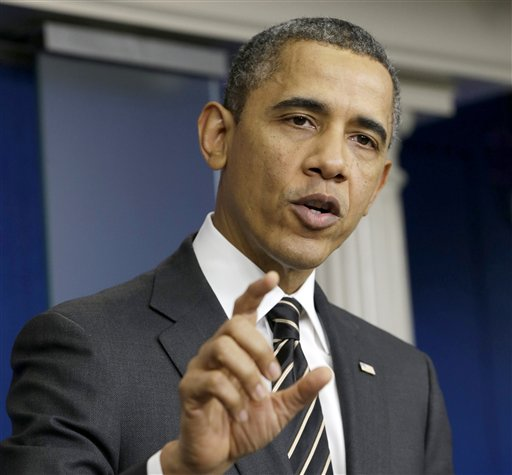 FILE - In this Feb. 5, 2013 file photo, President Barack Obama gestures as speaks in the James Brady Press Briefing Room of the White House in Washington. The president's announcement that half of the U.S. troops now in Afghanistan will come home within one year will put the number precisely where it was when he first became president. The next step: to decide how many Americans will stay longer-term, once the combat phase of the U.S. military presence ends at 2014's close. (AP Photo/Pablo Martinez Monsivais, File)