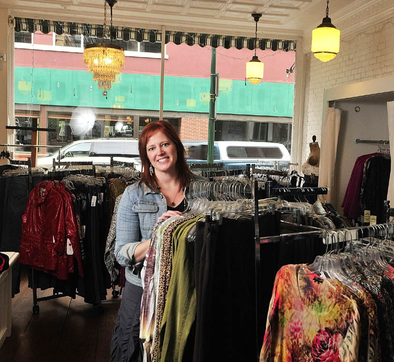 Jennifer Bergeron tried out a Gardiner location for her shop, called earth bound, as part of the pop-up shop program in the city's downtown over the holiday season.
