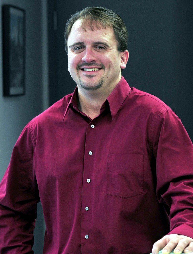 Shawn Michaud, of Valley Distributors in Oakland, is recipient of Mid-Maine Chamber of Commerce's 2012 Elias A. Joseph Award.