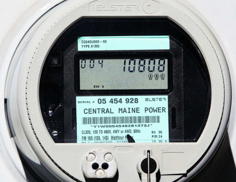 In this file photo, a Central Maine Power smart meter displays electricity usage at a business in Freeport in late 2010. An independent study of radio-frequency emissions from CMP's smart meters has found maximum exposure levels that are far below what the Federal Communications Commission considers safe.
