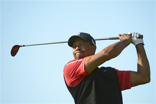 Tiger Woods hits a shot from the third tee during the final round of the Arnold Palmer Invitational golf tournament on Monday in Orlando, Fla.