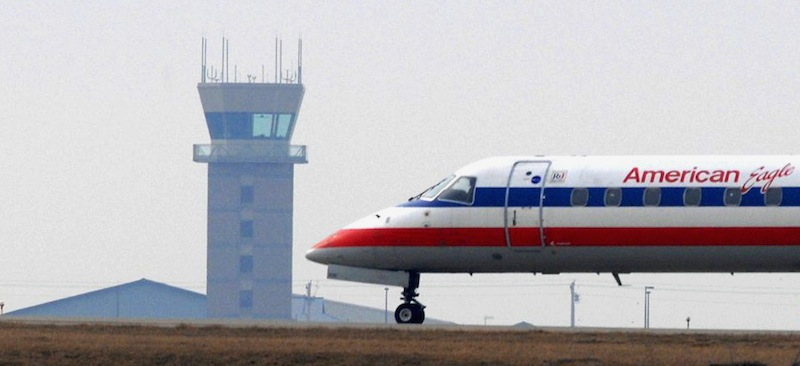 The air traffic control tower at Central Illinois Regional Airport in Bloomington, Ill., is one of the 149 that will close at smaller U.S. airports starting early next month.