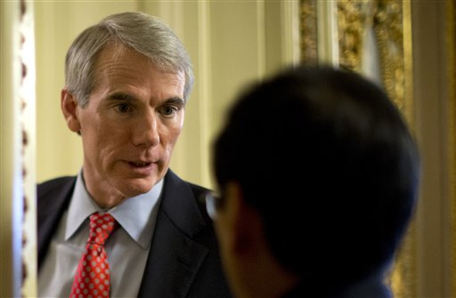 "Ohio Sen. Rob Portman: ""It's a change of heart from the position of a father. I think we should be allowing gay couples the joy and stability of marriage."""