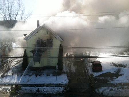 A house at 146 Northern Ave. in Augusta caught fire Thursday.