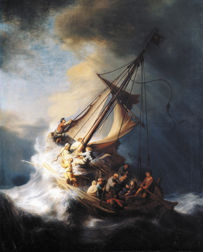 """Rembrandt's """"The Storm on the Sea of Galilee."""""""