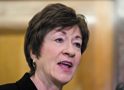 """Sen. Susan Collins: """"My constituents, while they may not always agree with every vote, they support the work I'm doing."""""""