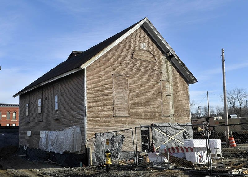 A warehouse behind the former Gerald Hotel might be the new home of the Fairfield Interfaith Food Pantry.