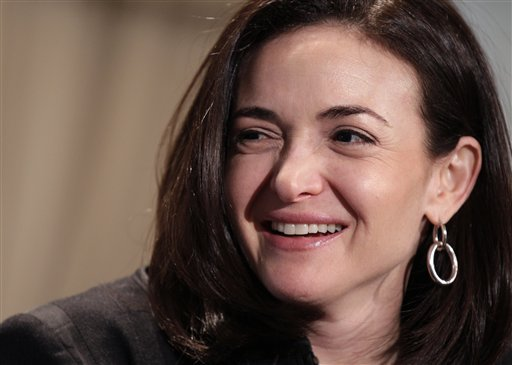 Sheryl Sandberg, Facebook's chief operating officer, writes in a new book about the need for women to be more professionally aggressive.