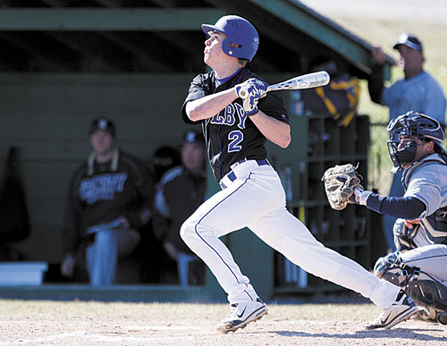 TIME TO GO: Colby College's Luke Duncklee batted .356 with 11 RBIs and stealing 11 bases in 12 attempts. Duncklee, a Cony High School graduate, is returning from a broken fibula he suffered during football season.