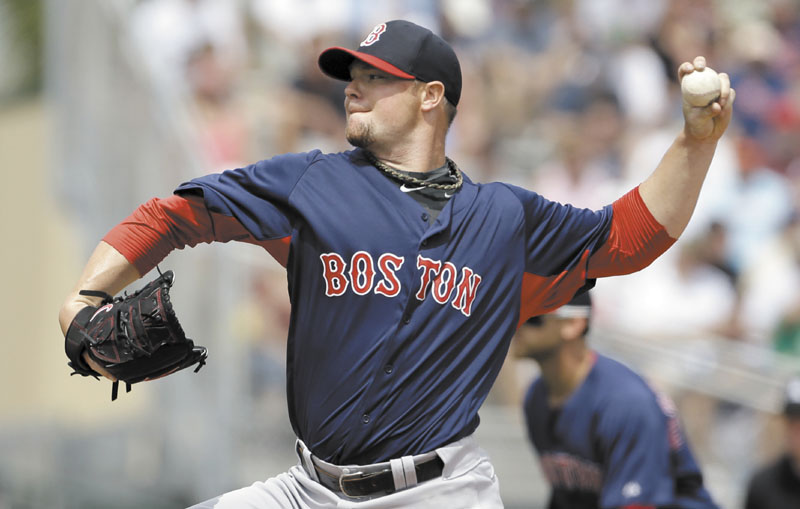 NICE WORK: Boston starting pitcher Jon Lester allowed one run on three hits and struck out four in five innings of work as the Red Sox lost to the Miami Marlins on Monday in Jupiter, Fla.