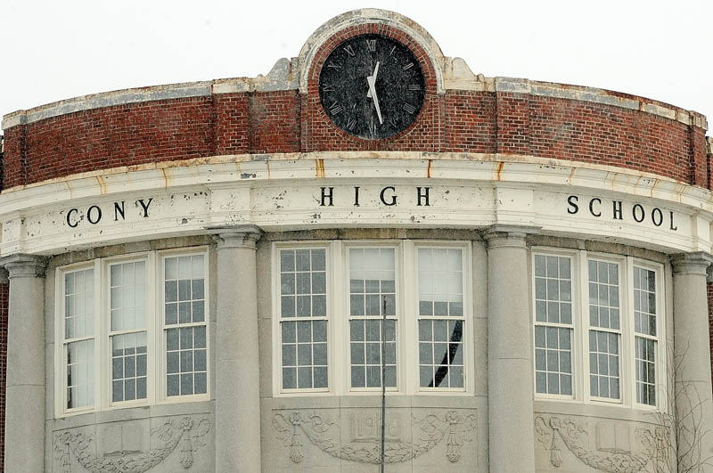 This photo, taken on Friday, shows the Cony flatiron building on Cony Circle in Augusta.