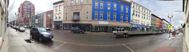 This Wednesday photo shows downtown Augusta.