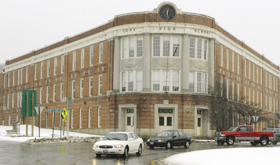 This recent photo shows the Cony Flatiron building on Cony Circle in Augusta.