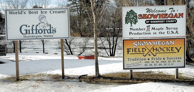 Signs celebrating Skowhegan successes will now have to be removed following a decision by the selectmen this week.
