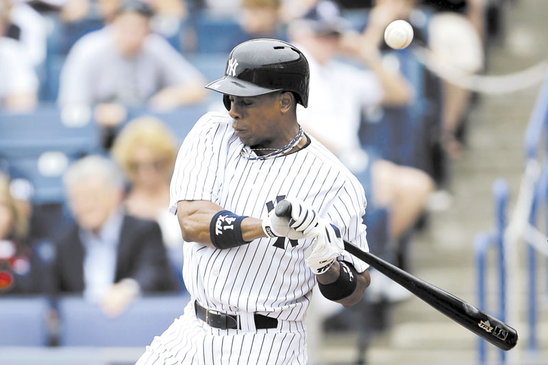OUCH: Curtis Granderson is one of a number of New York Yankees dealing with an injury. Granderson broke his arm in an exhibition game and is out until May. Spring Training