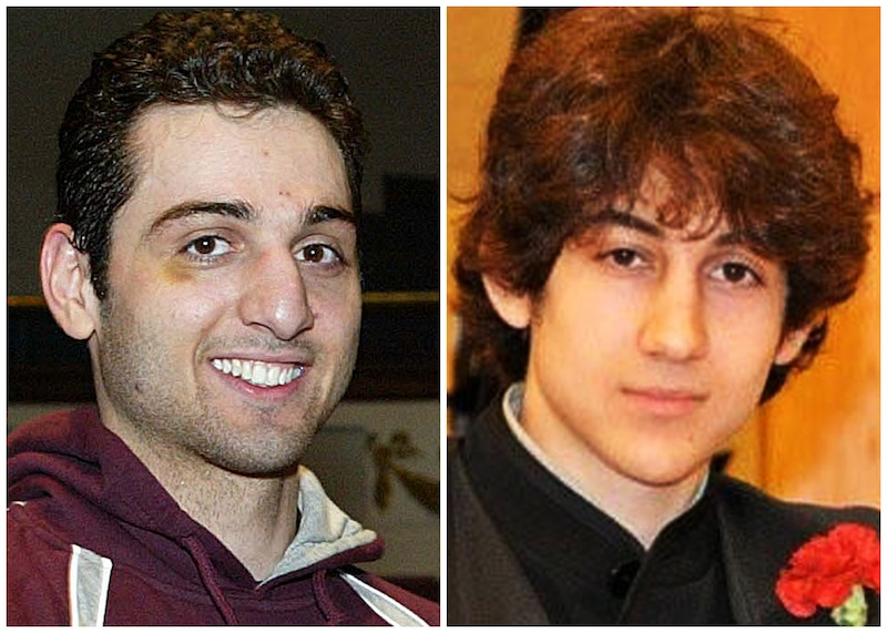 This combination of undated file photos shows Tamerlan Tsarnaev, 26, left, and Dzhokhar Tsarnaev, 19. The CIA added the name of dead Boston Marathon bombing suspect Tamerlan Tsarnaev, to a U.S. government terrorist database 18 months before the deadly explosions, U.S. officials told The Associated Press on Wednesday, April 24, 2013. The CIA's request came about six months after the FBI investigated Tamerlan Tsarnaev, also at the Russian government's request, but the FBI found no ties to terrorism, officials said. (AP Photo/The Lowell Sun & Robin Young, File)