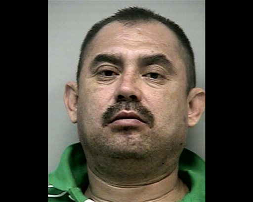 This 2009 photo provided by the Gwinnett County Sheriff's Department in Lawrenceville, Ga., shows reputed cartel operative Socorro Hernandez-Rodriguez after his arrest in a suburb of Atlanta. Hernandez-Rodriguez was later convicted of sweeping drug trafficking charges. Prosecutors said he was a high-ranking figure in the La Familia cartel, sent to the U.S. to run a drug cell.