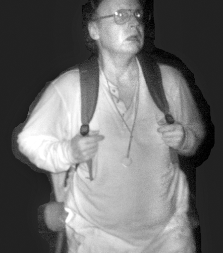 A surveillance photo taken in 2011 allegedly shows Christopher Knight, a hermit police believe engaged in more than 1,000 burglaries to support his lifestyle.