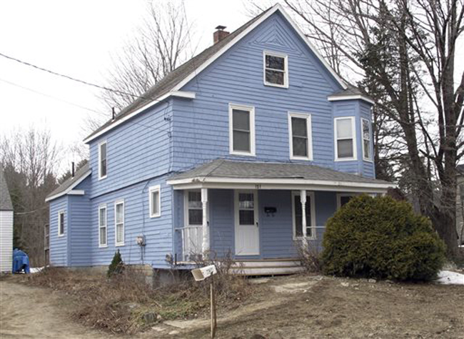 The Gorham house where Gary Alan Irving was arrested last week.