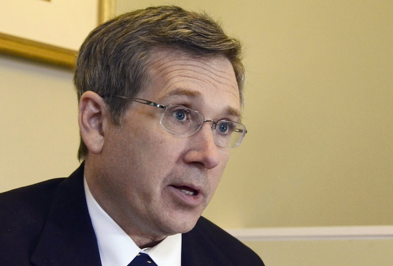 In this Dec. 18, 2012 file photo, Republican U.S. Sen. Mark Kirk of Illinois speaks about his recovery from a major stroke a year ago at his home in Highland Park, Ill. In a post on his blog Tuesday, April 2, 2013, Kirk said that he supports same-sex marriage. (AP Photo/Daily Herald, Bill Zars)