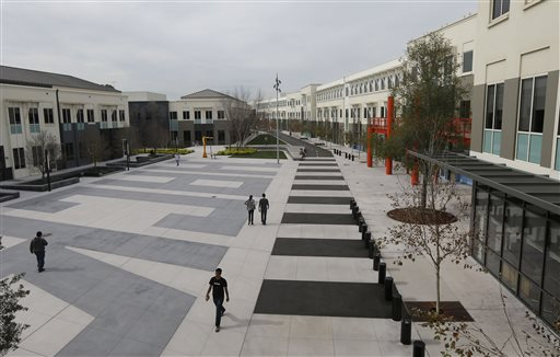 """The Facebook campus in Menlo Park, Calif.: """"People do work really, really hard here,"""" says a Facebook spokesman. """"They have to be passionate about what they do."""""""