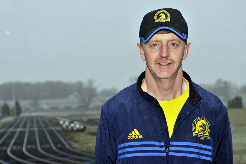 Joe Bertolaccini, of Winslow will run in his sixth Boston Marathon on Monday.