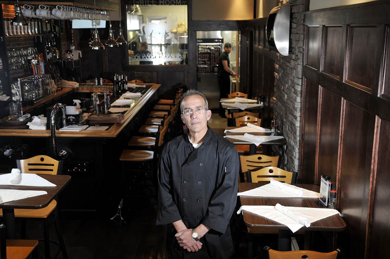 Peter Powers opened Alex Parker's Steakhouse on Thursday, on Water Street in Gardiner.