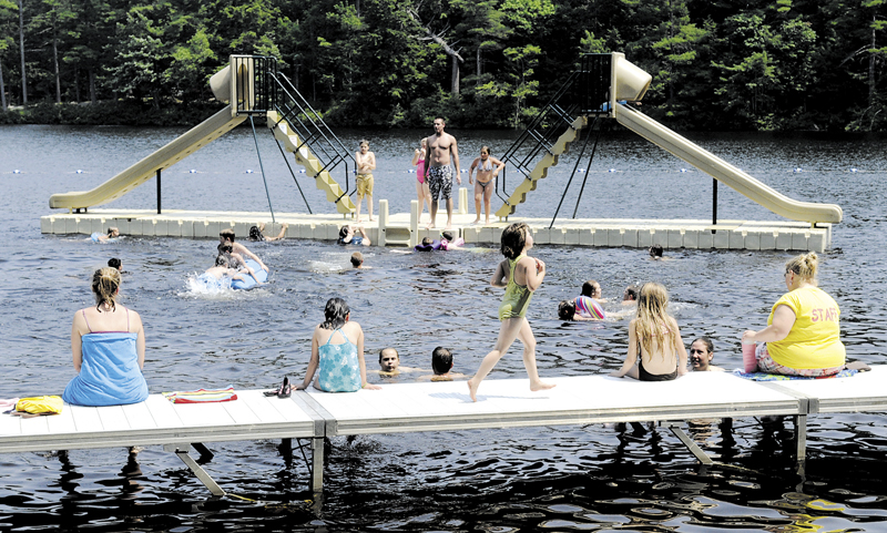 The swimming area at the Bicentennial Nature Park is a popular spot to cool off on summer afternoons.