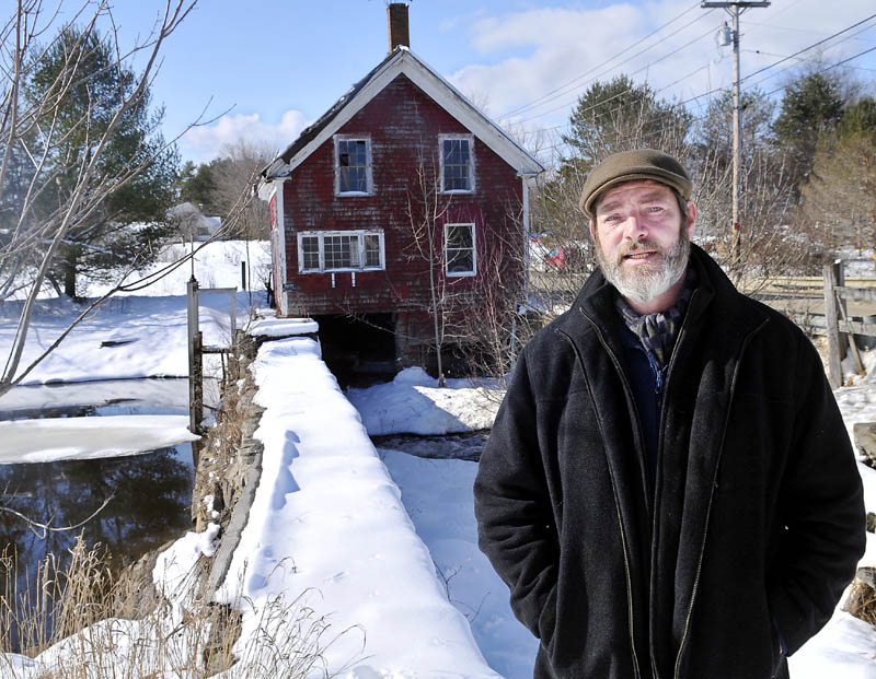 Paul Kelley, the manager Pleasant Pond Mill LLC, which owns the Clary Lake dam, in Whitefield on Feb. 26.
