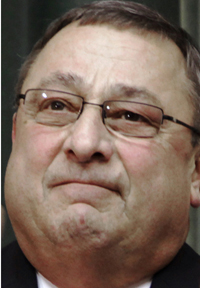 """""""I think the country is partly in a spiral now, but I think this president ... is going to ruin the American Dream as we know it,"""" Gov. Paul LePage said Monday in Washington D.C."""