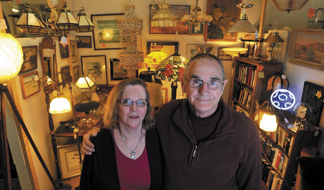 Brenda and Wayne Gamage, owners of the Fairfield Antiques Mall on Route 201, will be celebrating their business's 15th anniversary this month.