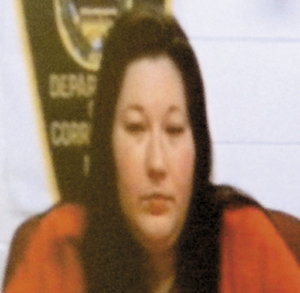 Sarah Desjardins, on a video link during a court appearance.