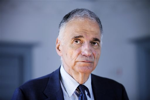 Former independent presidential candidate Ralph Nader is challenging Maine Democrats before the Maine Supreme Judicial Court over tactics employed in the 2004 election.