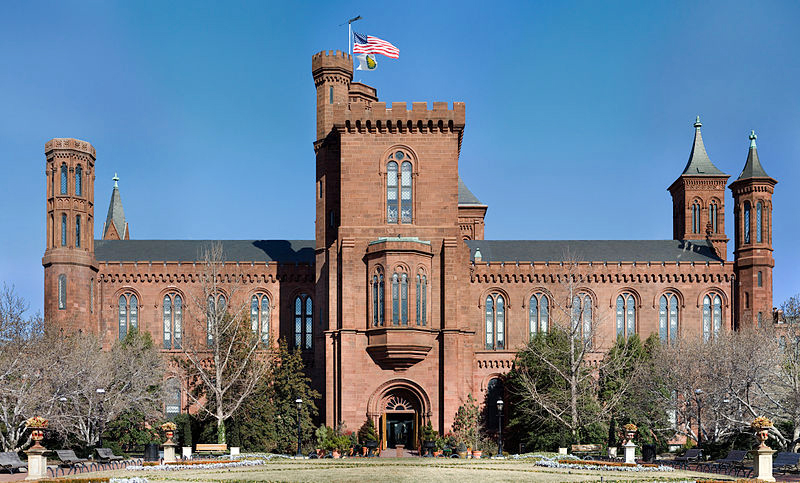 The main building of the Smithsonian. Facing a $41 million reduction in its budget, the Smithsonian will likely postpone or cancel some exhibits for 2014 and 2015, as well as educational programs.