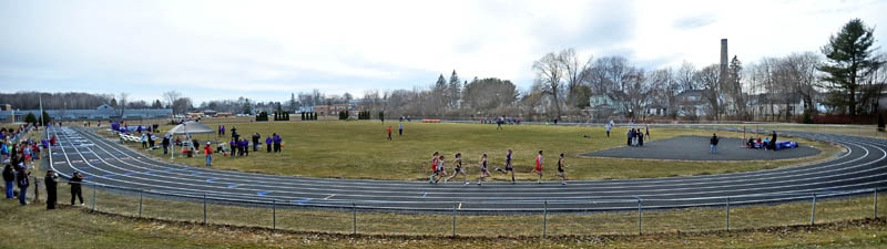 NEW DIGS: Winslow High School held its first home track and field meet since 2010 on Thursday, debuting the newly resurfaced track.
