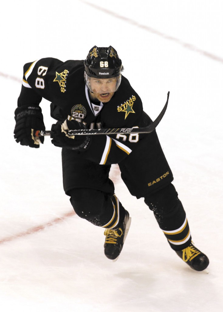HEADING TO BOSTON: The Boston Bruins acquired forward Jaromir Jagr in a trade with the Dallas Stars on Tuesday. Jagr is the 10th leading goal scorer in NHL history and leads the Stars in scoring this season.