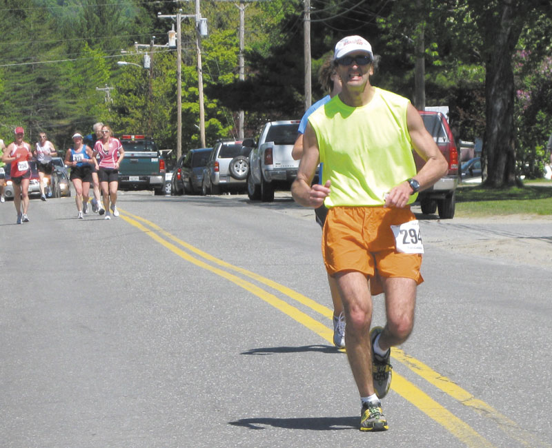 Paul Josephson, of Waterville, trains for the Boston Marathon in April 2011.