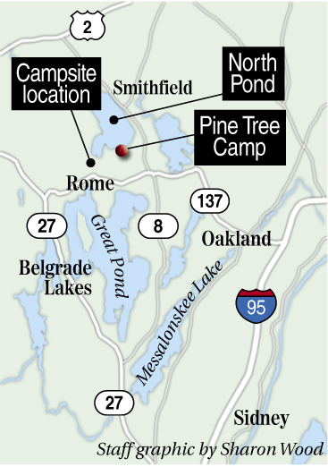 Christopher Knight's camp was located on North Pond in Rome, not far from Route 137.