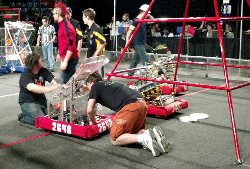 Messalonskee High School's robotics club competes in Lewiston over the weekend.