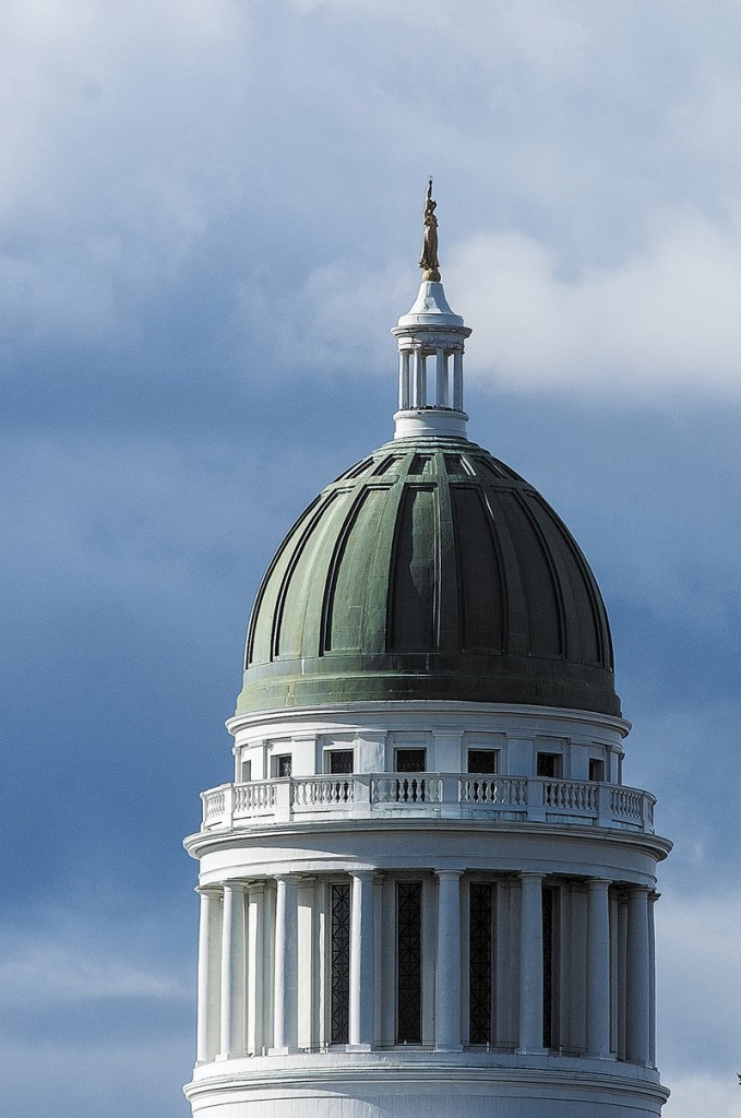 The State House dome in Augusta.