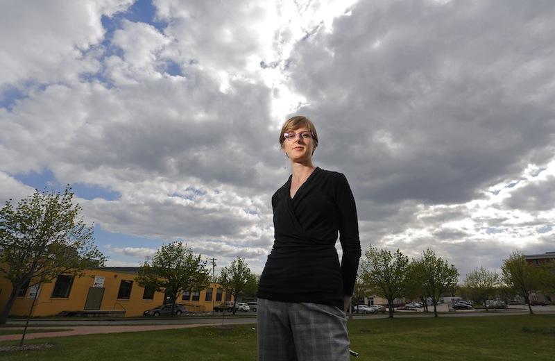Denali Wright, 33, of Portland, photographed Tuesday, May 14, 2013, underwent a double mastectomy to prevent her chance of being diagnosed with breast cancer.