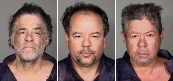 This undated combination photo released by the Cleveland Police Department shows from left, Onil Castro, Ariel Castro, and Pedro Casto.The three brothers were arrested Tuesday after three women who disappeared in Cleveland a decade ago were found safe Monday.